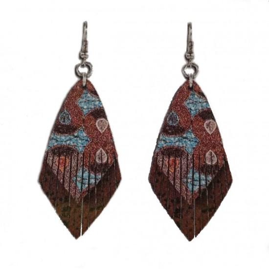 Pendientes tribal marrón