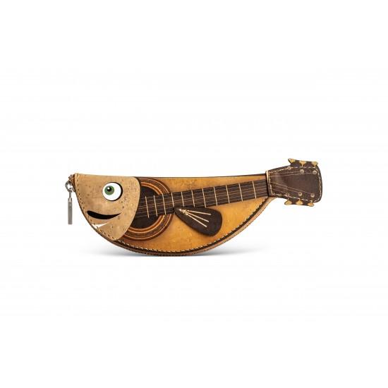 Monedero llavero pez guitarra